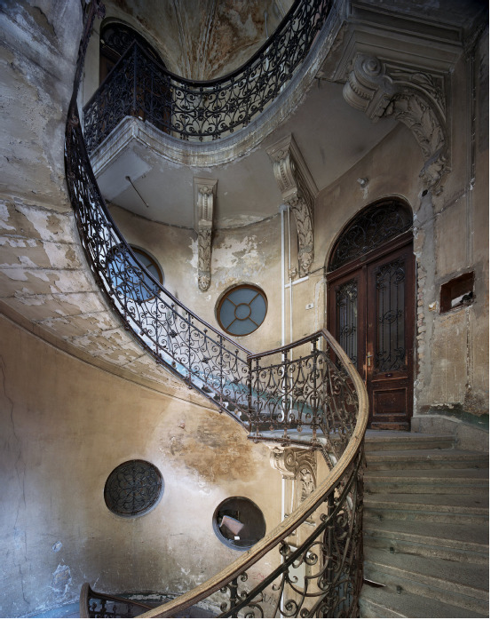 Marchand & Meffre Budapest Staircases Krudy Gyula Utca 11, 2015, 75 x 60 cm, edition of 12, Chromogenic Print mounted on dibond and framed.