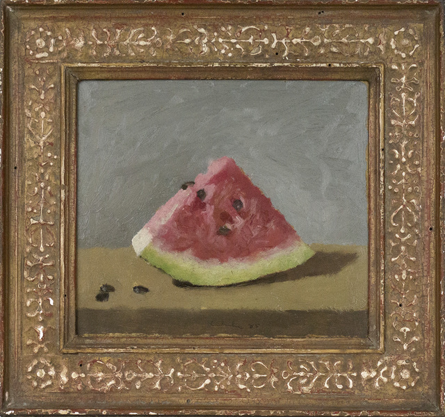 , 'Wedge of Watermelon on Grey Background,' 1985, Davis & Langdale Company, Inc.
