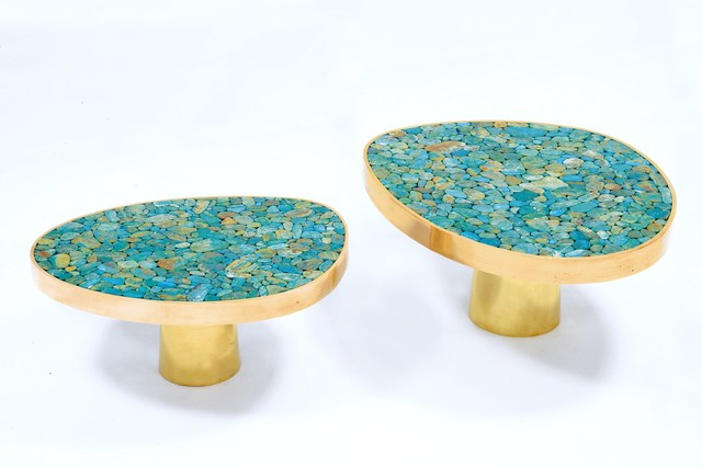 , 'Pair of Turquoise coffee table,' 2017, Maison Rapin - 88 Gallery