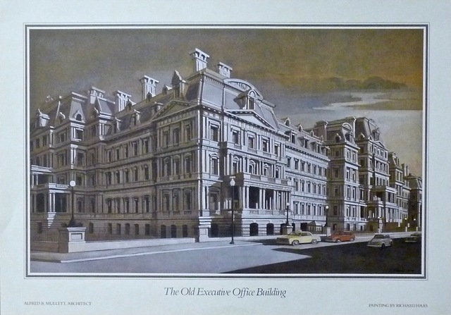 Richard Haas, 'The Old Executive Office Building (hand signed)', 1984, Alpha 137 Gallery