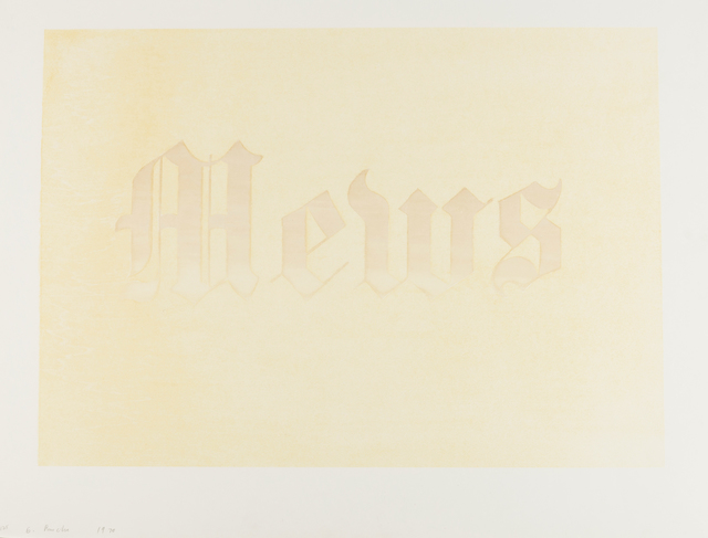 Ed Ruscha, 'Mews (Engberg 36)', 1970, Forum Auctions