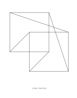 , 'Cubo torcido,' 2013, Travesia Cuatro
