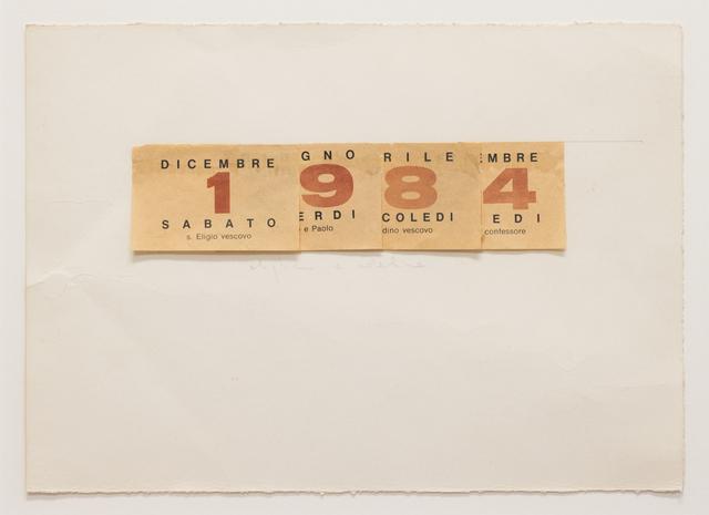 , 'Calendario,' 1984, Galerie Philippe David