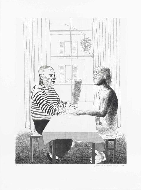 David Hockney, 'Artist and Model', 1974, Christie's