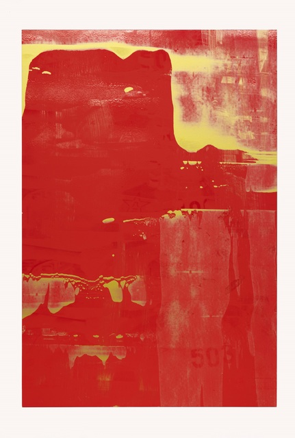 , 'Such is History (Red on Gold on Red),' 2018, Ben Brown Fine Arts