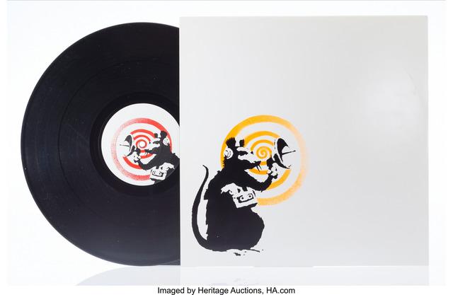 Banksy, 'Radar Rat Dirty Funker (Orange)', 2008, Heritage Auctions