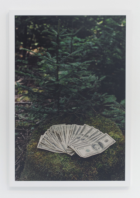 , 'Money on mossy rock in vermont,' 2005, The Hole