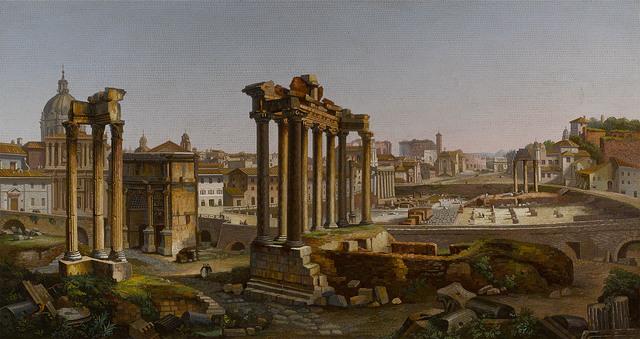 , 'ROMAN FORUM MICROMOSAIC,' ca. 1850, M.S. Rau Antiques