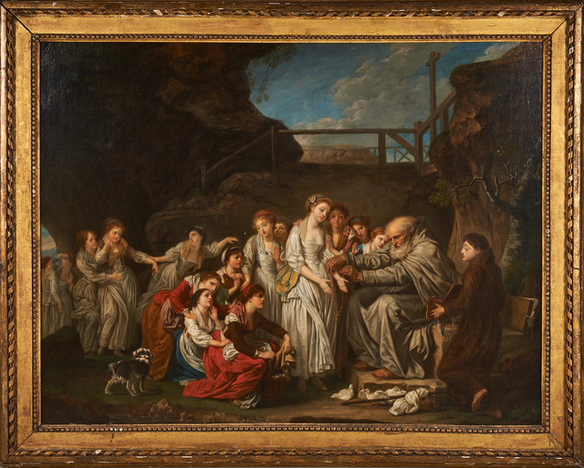 "after Jean-Baptiste Greuze, '""The Distributor Of Rosaries (The Hermit)""', Painting, Oil on canvas, Rago/Wright"