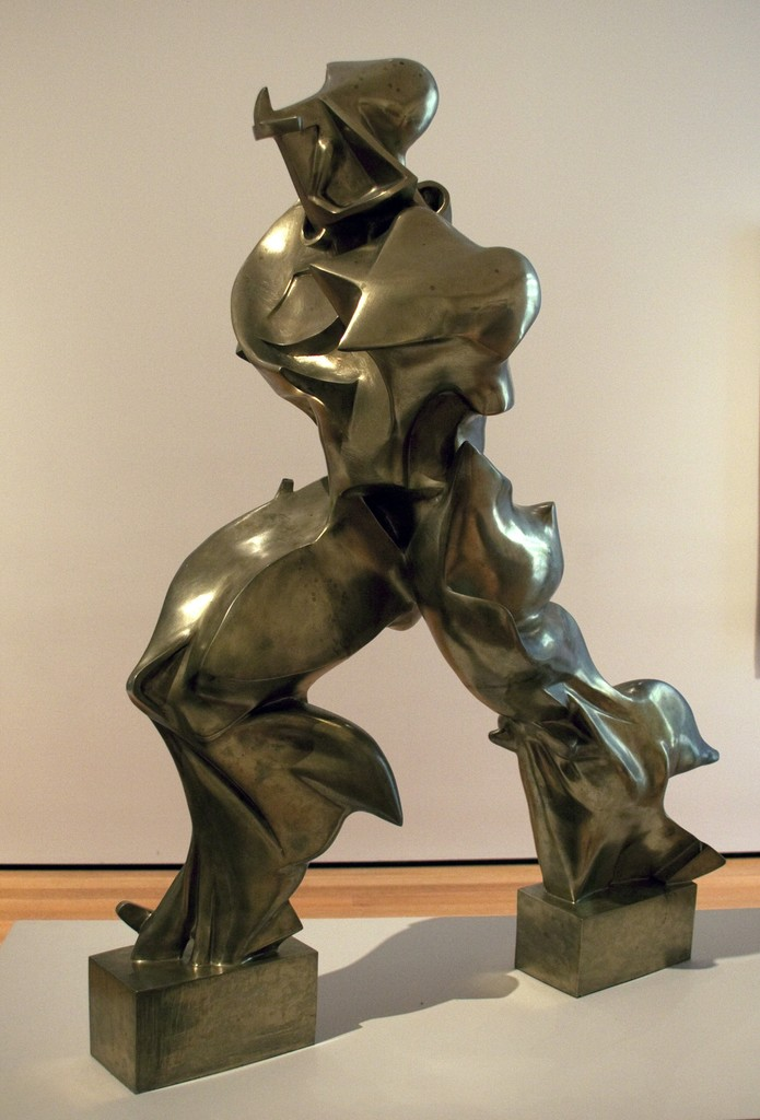 unique forms of continuity in space In unique forms of continuity in space, the figure is aerodynamically deformed  by speed boccioni exaggerated the body's dynamism so that it embodied the.