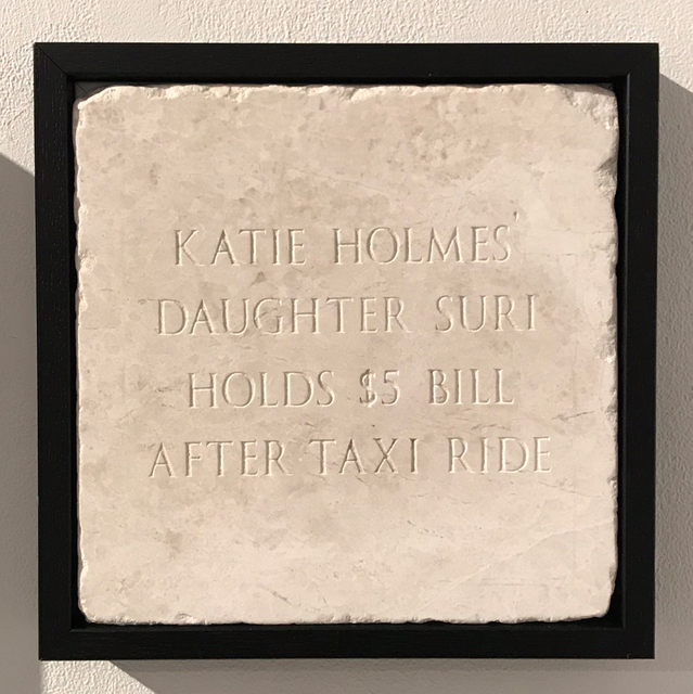 Sarah Maple, 'Katie Holmes Daughter Suri Hold $5 Bill After Taxi Ride', 2018, The Untitled Space