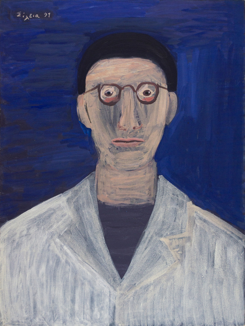 Celia Daskopoulou, 'Untitled (Doctor)', 1991, Painting, Acrylic on canvas, CAN Christina Androulidaki