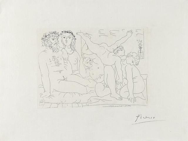 Pablo Picasso, 'Famille de Saltimbanques from La Suite Vollard', 1933, Rago/Wright