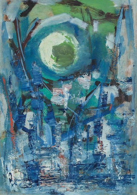 Unknown, 'Blue Abstract Painting', 20th Century, Lions Gallery