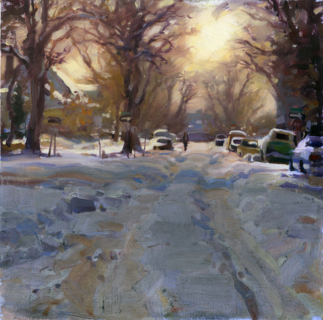 Kim English, 'Capitol Hill Snow', 2021, Painting, Oil, Abend Gallery