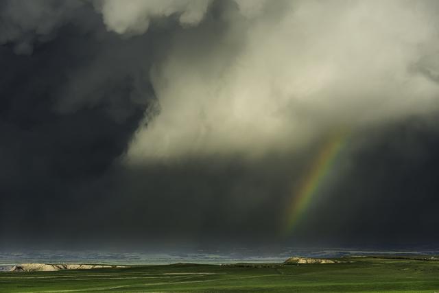 , 'Rainbow and Rainstorm. Oglala Grasslands, Nebraska,' 2014, Bernarducci Meisel Gallery
