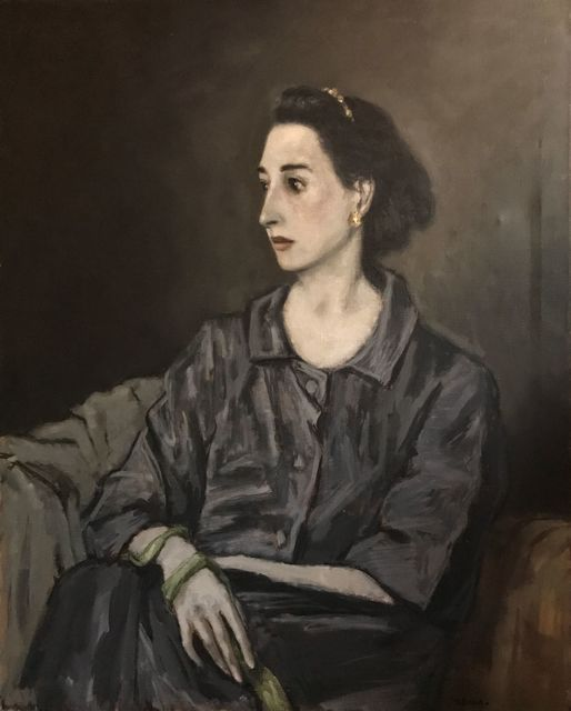"""Alexander Brook, 'Woman in Gray', Painting, Signed lower right: """"A. Brook""""., Childs Gallery"""