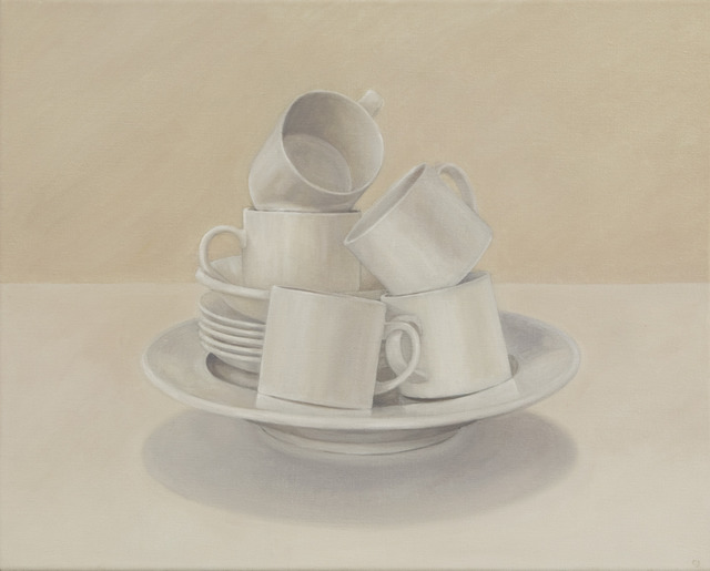 , 'Balanced Cups on Plate,' 2012, Clark Gallery