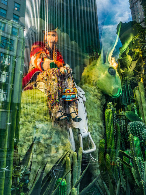 , 'Green Unicorn ( Bergdorf's),' 2016, Lawrence Fine Art