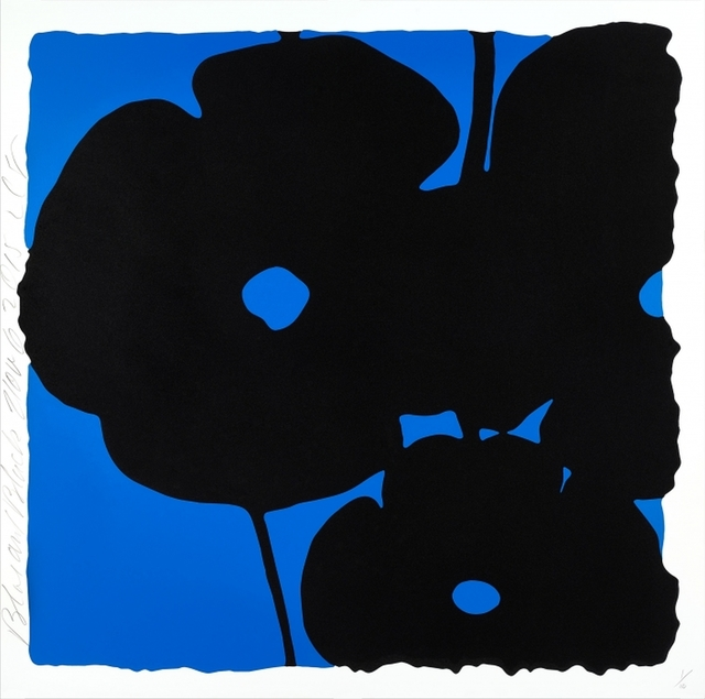 , 'Reversal Poppies: Blue and Black, November 6, 2015,' 2015, William Campbell Contemporary Art, Inc.