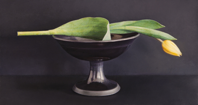 , 'Yellow Tulip, Black Bowl,' 2010, Nancy Hoffman Gallery