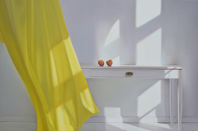 , 'Tisch mit Gelb und Wind,' 2016, Galerie Friedmann-Hahn
