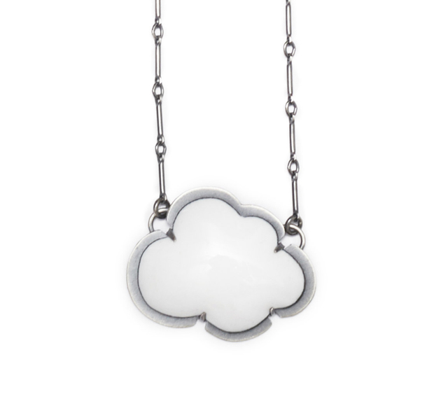 Lisa Crowder, 'Tiny White Cloud Enamel Pendant', 2018, Palette Contemporary Art and Craft