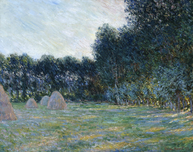 , 'Meadow with Haystacks near Giverny,' 1885, Museum of Fine Arts, Boston