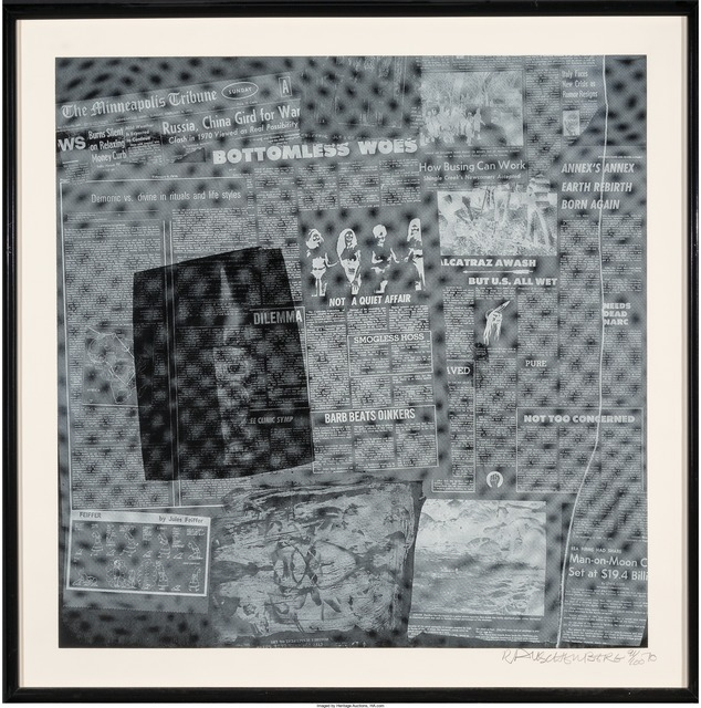 Robert Rauschenberg, 'Surface Series from Currents, Bottomless Woes', 1970, Print, Screenprint on wove paper, Heritage Auctions