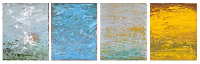 , 'Elements: Air, Water, Earth-Quadriptych,' 2014-2015, Seager Gray Gallery