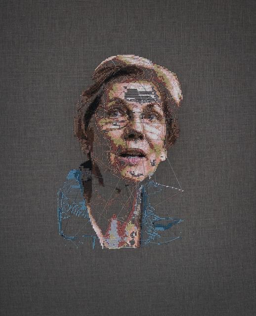 , 'Phrenology Study of Elizabeth Warren,' 2018, Robert Mann Gallery