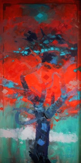 Abdul Qader Al Rais, 'Al Samar Series, Oil on Canvas', 2017, Hunar Gallery