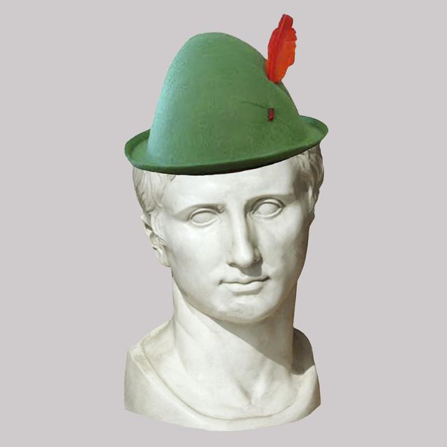 , 'Roman Emperor Augustus/Green Alpine Hat,' 2018, JAUS