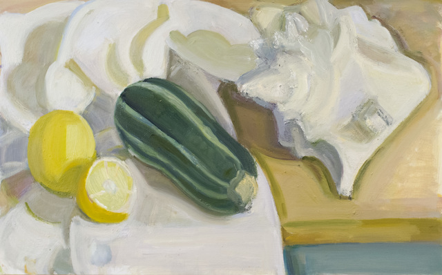 , 'Shell with Tiger Squash and Lemons,' 2018, BCK Fine Arts Gallery at Montauk