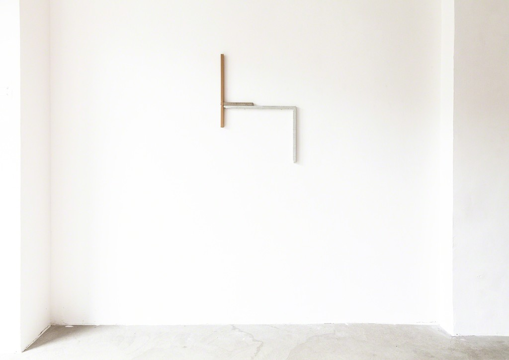 "exhibition view Selma Weber: ""Classic"", 2018, wall object, concrete, card board, plaster 