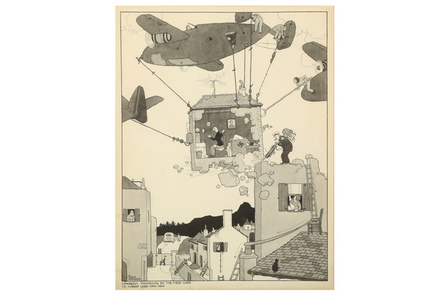 William Heath Robinson, 'Cowardly Manoeuvreby the First Lord to Kidnap Lord Haw Haw', Chiswick Auctions