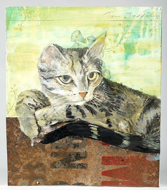""", 'Casey (created exclusively for the """"Patrick Eddington Cat Project"""", and gifted to Eddington),' 2009, Alpha 137 Gallery"""