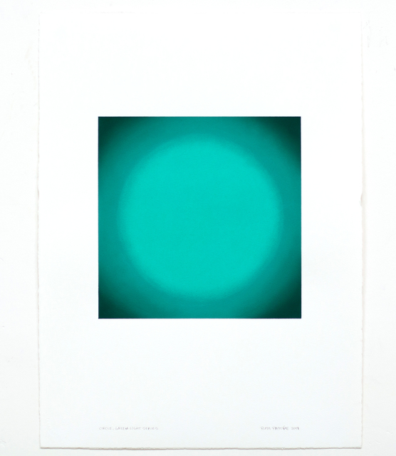 , 'Circle, Green Light Series,' 2018, Edward Cella Art and Architecture