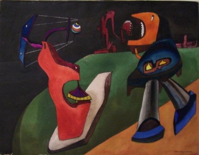 , 'Three Mechanical Figures,' 1944, Susan Teller Gallery