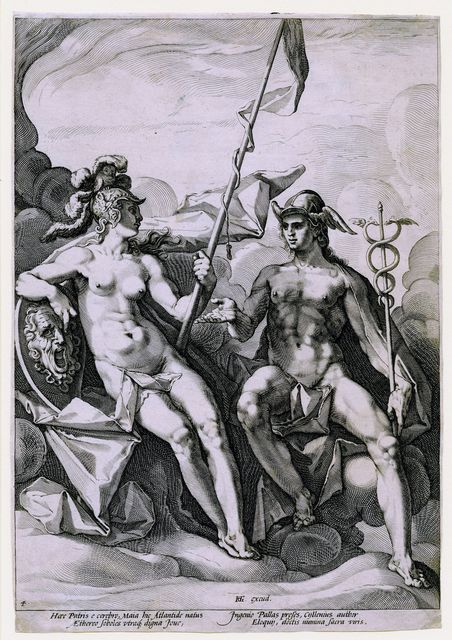 , 'The Alliance of Athena and Mercury,' ca. 1588, Childs Gallery