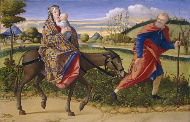 Vittore Carpaccio, 'The Flight into Egypt', ca. 1515, National Gallery of Art, Washington, D.C.