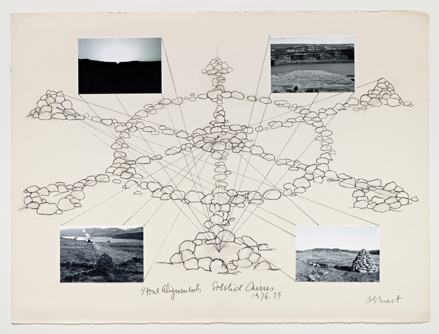 , 'Stone Alignments/Solstice Cairns,' 1978, Parafin