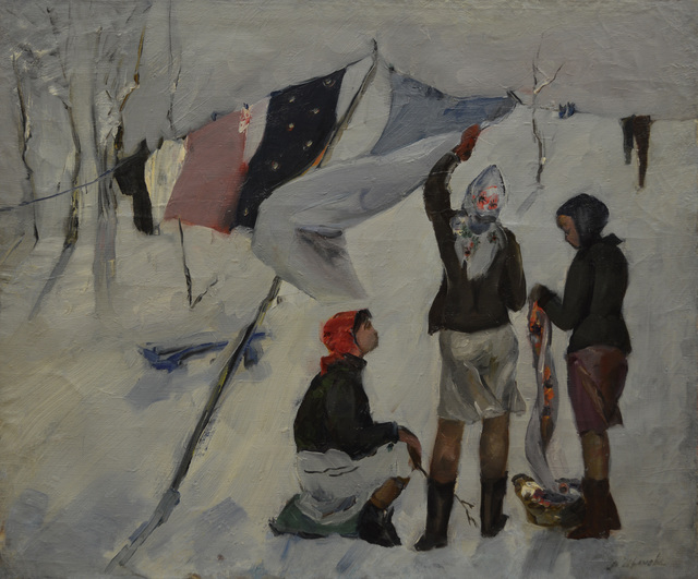 Valentina Vladimirovna Ivanova, 'Hanging out the washings', 1979, Surikov Foundation