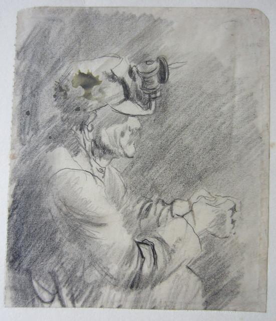 , 'Tin Mine: Miner waiting for a Lift,' 1942, Christopher Kingzett Fine Art