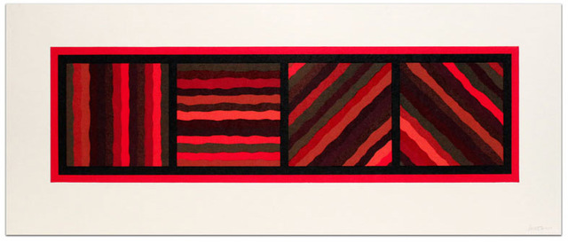 , 'Bands (Not Straight) in Four Directions, Plate #01,' 1999, Jim Kempner Fine Art