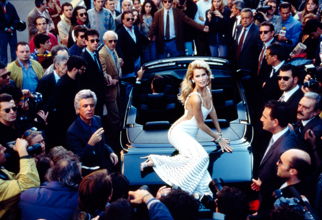 , 'Claudia Schiffer on hood,' 1995, CAMERA WORK