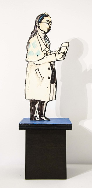 Red Grooms, 'Lady with Overcoat (maquette for installations in Chicago)', 1995, Elan Fine Art