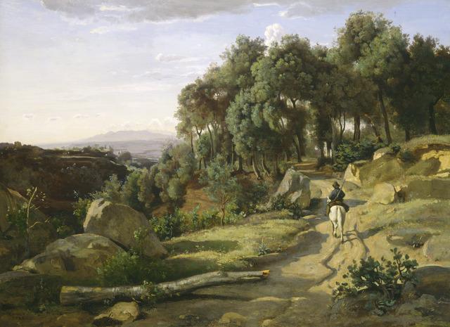 Jean-Baptiste-Camille Corot, 'A View near Volterra', 1838, National Gallery of Art, Washington, D.C.