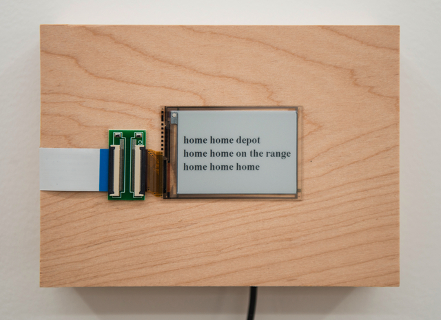 , 'home home...,' 2015/2016, Postmasters Gallery