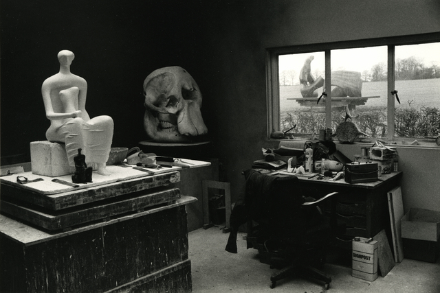 , 'Henry Moore's Studio with Elephant Skull and seated Figure, England, 1980,' 1980, James Hyman Gallery